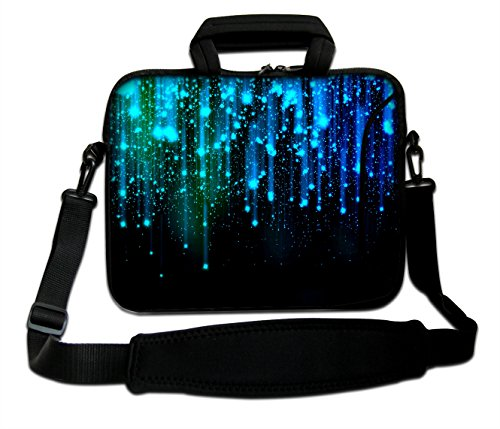 ArcEnCiel 17 17.3 inch Neoprene Laptop Sleeve Bag Carrying Case with Handle and Adjustable Shoulder Strap