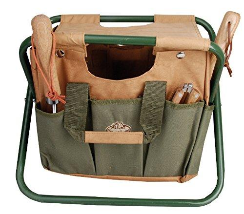 Versatile Metal & Textile Garden Tool Stool Seat Chair Gift