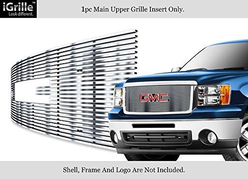 Fits 2007-2013 GMC Sierra Denali 1500 Stainless Steel Billet Grille Grill Insert - Denali Sierra Grille Gmc Insert