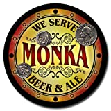 Monka Family Name Beer & Ale Neoprene Coasters - Set 4pcs