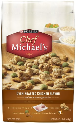 Chef Michael's Oven Roasted Chicken Dry Dog Food 4.5 Pound Bag, My Pet Supplies