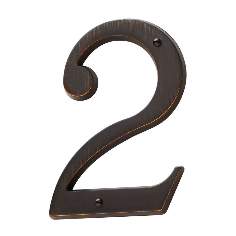 Baldwin Estate 90672.112.CD Solid Brass Traditional House Number Two in Venetian Bronze, 4.75''