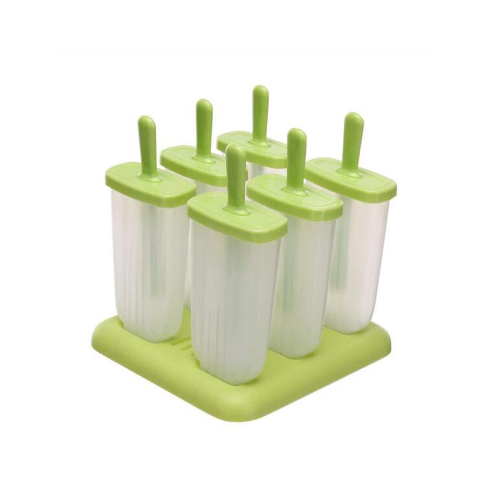 Frozen Popsicle Molds Set Ice Pop Maker Molds BPA Free Set of 6