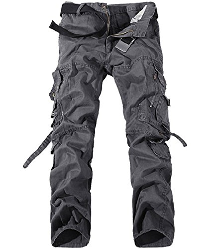 [Larkon Men's Military Cargo Pants Relaxed-fit Wild Pants] (Slender Man Skin Suit)