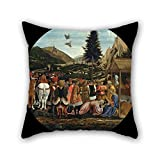 Beautifulseason 20 X 20 Inches / 50 By 50 Cm Oil Painting Domenico Veneziano - The Adoration Of The Magi Pillow Covers ,twice Sides Ornament And Gift To Teens,outdoor,wedding,play Room,girls,bedding