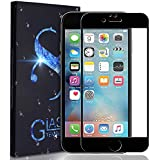 iPhone 7 Plus Screen Protector -Full Coverage 9H Hardness 9D Curved Edge Tempered Glass Screen Protector Compatible iPhone 7 Plus iPhone 8 Plus (Black)