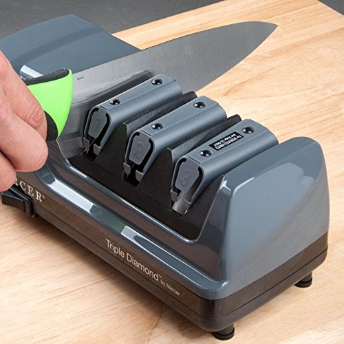 Mercer M10000 Triple Diamond 3 Stage Professional Electric Knife Sharpener by MERCER