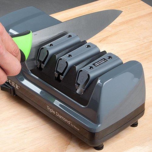 Mercer M10000 Triple Diamond 3 Stage Professional Electric Knife Sharpener by MERCER