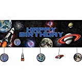Creative Converting Space Blast Giant Party Banner with Hanging Cutouts (2-Pack)