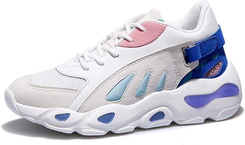 Zapatillas De Correr para Mujer Zapatillas Deportivas De Bajo Confort Superior Zapatillas De Deporte De Cuero Transpirables Ocasionales JóVenes Chicas Moda Gimnasio Entrenadores AtléTicos: Amazon.es: Zapatos y complementos