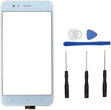 soliocial Panel Pantalla Táctil digitalizador de Vidrio para Xiaomi Mi A1 MiA1/ Mi5X Mi 5X 5.5 (Not LCD) Blanco: Amazon.es: Electrónica