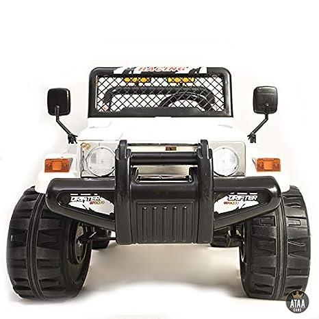 ATAA Todo Terreno Estilo Jeep 4x4 12v - Blanco - Coche eléctrico Infantil para niños y Bebes con batería Potente: Amazon.es: Juguetes y juegos
