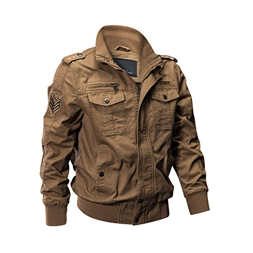 amazon com zooyung men s casual winter cotton military jackets