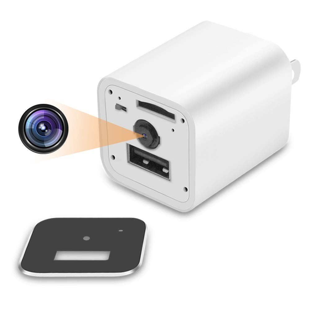 Hidden Spy Camera 1080P HD USB Cube Surveillance Wall Charger Cam with Motion Detection