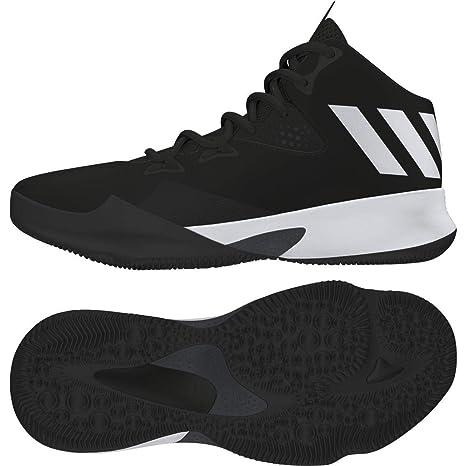 Adidas Dual Threat 2017 J, Zapatillas de Baloncesto Unisex Niño, Negro (Negbas/