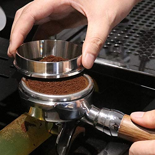 Noblik 51Mm Edelstahl Intelligenter Dosier Ring Br/üH Sch/üSsel Kaffee Pulver f/ür Espresso Barista Trichter