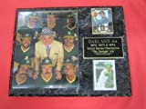 1972 73 74 Oakland A's World Series Champions 2 Card Collector Plaque w/8x10 Photo!
