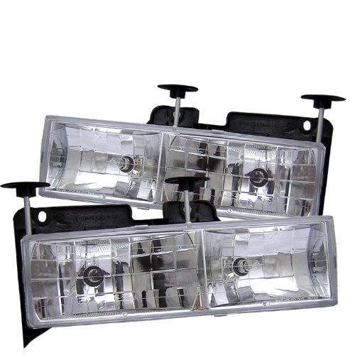 - Spyder Auto Chevy C/K Series 1500/2500/3500/Chevy Tahoe/GMC C/K Series 1500/2500/3500/GMC Jimmy/GMC Yukon Chrome Crystal Glass Headlight