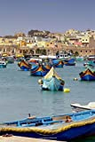 Colorful Traditional Fishing Boats in the Harbor