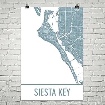Amazon Com Modern Map Art Siesta Key Map Sarasota Art Siesta Key