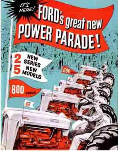 Series Tractor Sales Brochure - FORD 600 & 800 SERIES TRACTOR SALES BROCHURE 1957 1958 1959 1960 1961 1962