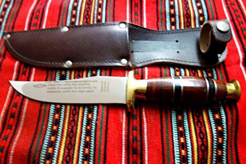 Palamianakis Knives Handmade knife fixed blade hunting knife stileto leather No 2