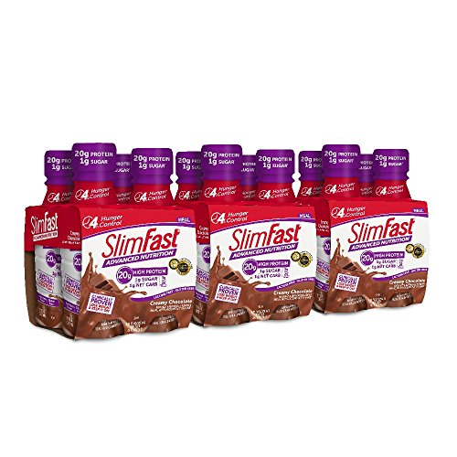 SlimFast Advanced Nutrition Creamy Chocolate Shake - Ready to Drink Meal Replacement - 20g of Protein - 11 fl. oz. Bottle - 12 Count ()