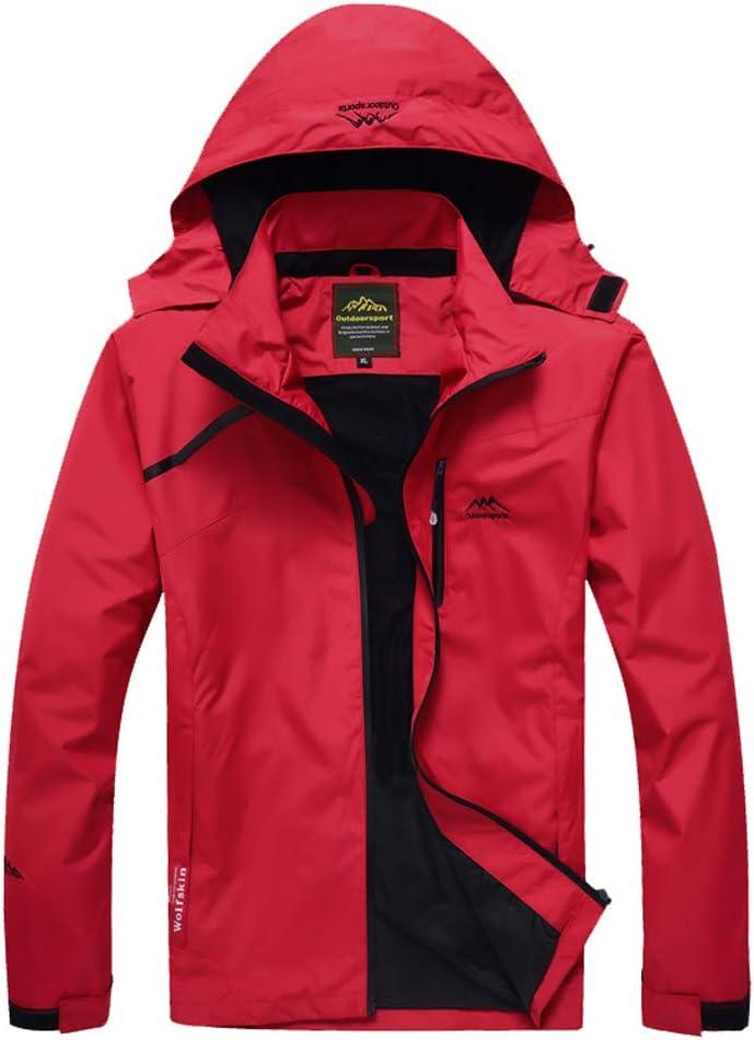 Volwassan Womens Waterproof Jacket Lightweight Mountain Outdoor Jacket Running Fishing Ladies Windproof Rain Coat with Hood