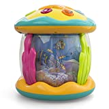 Toddlers Interactive Musical Light Up Toy With Vibrant Colorful Night Stars Projection With Rotating Ocean View And Animal Sounds