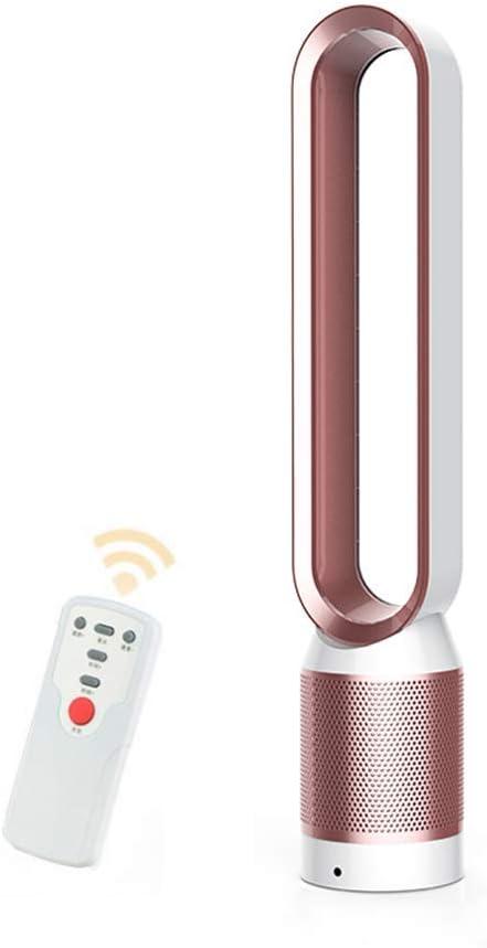 Ventilador sin aspas Aire, Climatizador portátil, Controlar el Flujo de Aire Ventilador eléctrico de enfriamiento Bajo db para el hogar y la Oficina, Seguro para niños y Mascotas(Rosado)