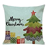 Pgojuni Cotton Linen Christmas Cushion Cover Square Pillow Case Decor Pillow Cases Sofa Cushion Cover 1pc (G)