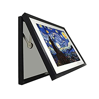 Kreative Arts - Hidden Electrical Switch Box Starry Night Vincent Van Gogh Oil Painting Reproduction Printed on Canvas Classic Art Framed for Wall Decor Easy to Hang
