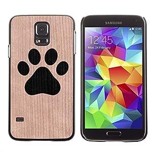 - Dog Paw Minimalist Pet - - Funda Delgada Cubierta Case Cover de Madera FOR Samsung Galaxy S5 I9600 G9009 G9008V BullDog Case