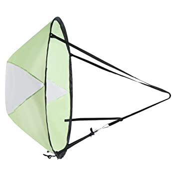 Orange 42 portable Abwind Wind Paddel Instant Popup Board Kajak Segel Ruder- & Paddelboote