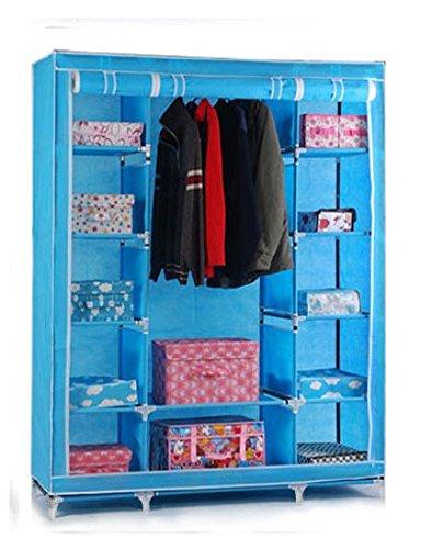 Triple de lona armario ropero con perchero y estante ...