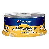 VTM94834 - VERBATIM 94834 4.7GB 4X DVD+RWs, 30-ct