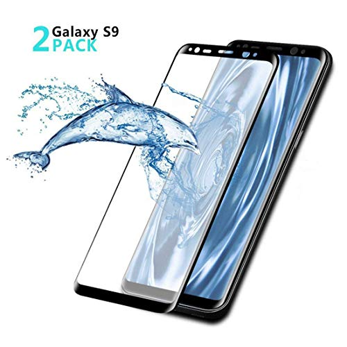 Beatife Galaxy S9 Screen Protector Tempered Glass[2 Pack], Full Screen S9 Screen Cover Saver 3D Curved HD Clear Guard Film[9H Hardness, Anti-Scratch, Anti-Bubble] (NOT for S9 Plus)