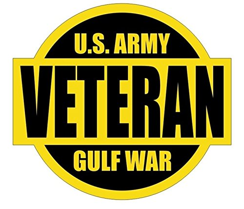 1 Pcs Effective Unique U S  Army Gulf War Veteran Window Stickers Sign Mac Macbook Laptop Luggage Wall Room Graphics Military Persian Decor Vinyl Art Sticker Patches Size 2 X2 1 4  Color Black Yellow