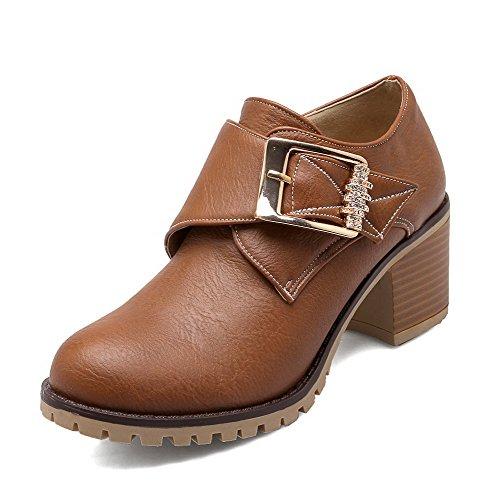 AmoonyFashion Women's B01NCALVWY Hook-And-Loop Kitten-Heels PU Solid Ankle-high Boots B01NCALVWY Women's Shoes e59ed1