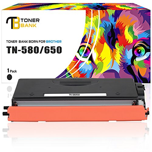 Toner Bank Compatible Brother TN650 TN580 Toner Cartridge Replacement for Brother MFC-8480DN MFC-8380DW MFC-8890DW MFC-8680DN HL-5370DW HL-5340DL DCP-8058DN HL-5350DN HL-5250DN Laser Toner Cartridge (Printer Laser Brother Hl5250dn)