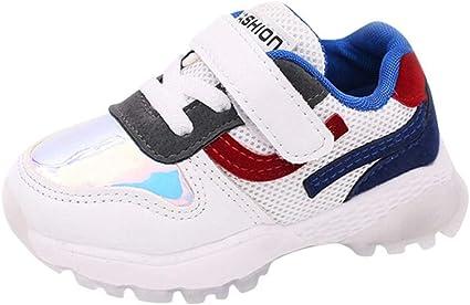 Sneakers Niño Zapatillas Garcon zapato, xinantime niños Kid chicos chicas colores combinadas Patch Mesh Sport Running Zapatos décontractées: Amazon.es: Belleza