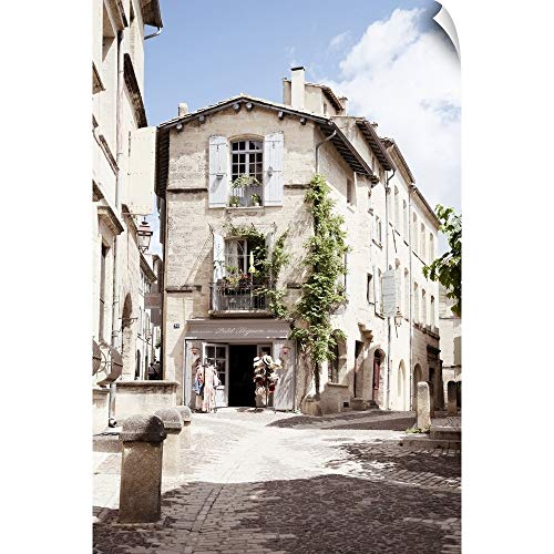 CANVAS ON DEMAND France Provence Collection - Provencal Street Wall Peel Art Print, 16