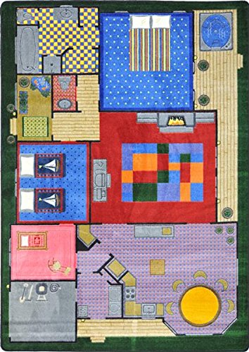 Creative Playhouse Rug - CREATIVE PLAY HOUSE Kids Rugs Area Rug 5'4