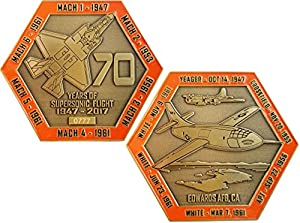 70th Anniversary of Supersonic Flight Challenge Coin - Edwards Air Force Base