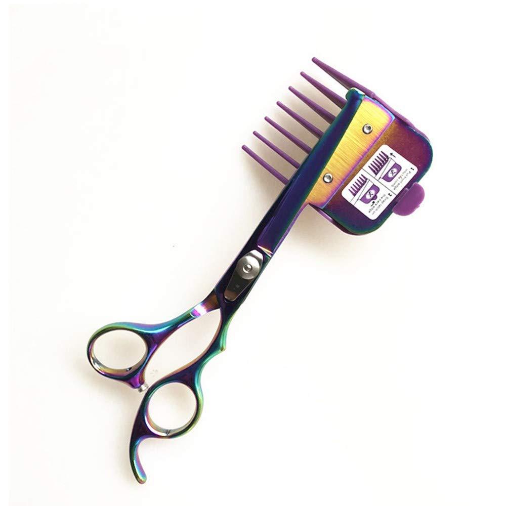 LXQ 10Pc Sensory Sensitivity Hair Clip Set - 4.5'' Right Hand Safety Scissors, Silent Pet Beauty by LXQ