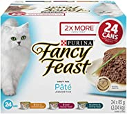 Fancy Feast Wet Cat Food, Assorted Pâté Variety Pack 85 g Cans (24 pack)
