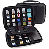 USB Flash Drive Case, Agile-Shp Universial Portable Big Capacity Waterproof Shockproof Electronic Accessories Organizer Holder / Hard Drive Case Bag - Black