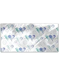 Twin Hearts Rectangle Tablecloth Large Dining Room Kitchen Woven Polyester Custom Print