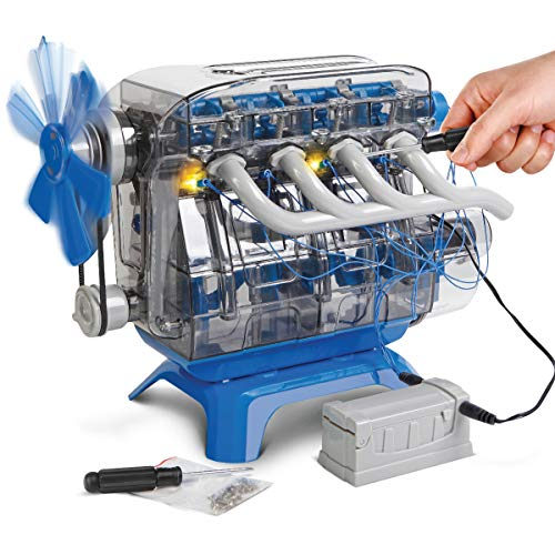(DISCOVERY KIDS DIY Toy Model Engine Kit, Mechanic Four Cycle Internal Combustion Assembly Construction, Comes W/Valves, Cylinders, Hardware & Much More, Encourages STEM Creativity/Critical Thinking)