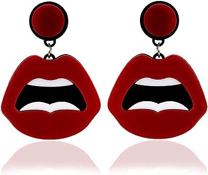 Femmes Crochet Boucles D/'oreilles Goutte Dangle punk hip hop Cercle Acrylique Candy Couleur Boucles d/'oreilles